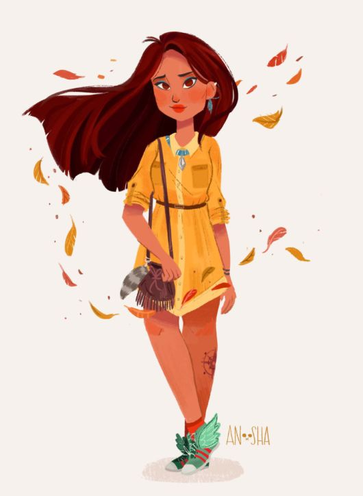 Disney Princesses Illustrated As Modern Day Girls Living In The 21st Century