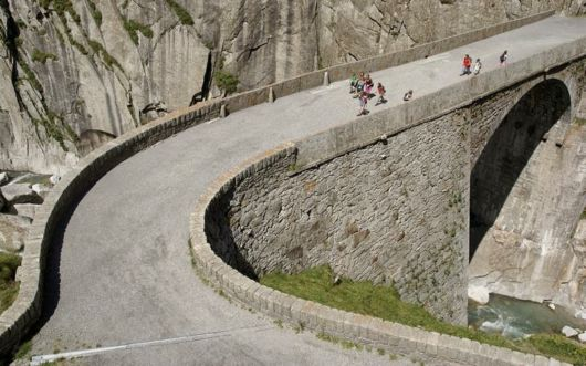 The Devil's Bridge In Switzerland