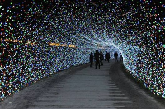 World's Largest Light Installation In Japan