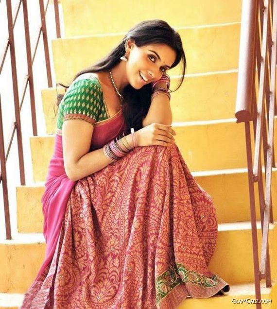 Pretty Asin Saree Photoshoot