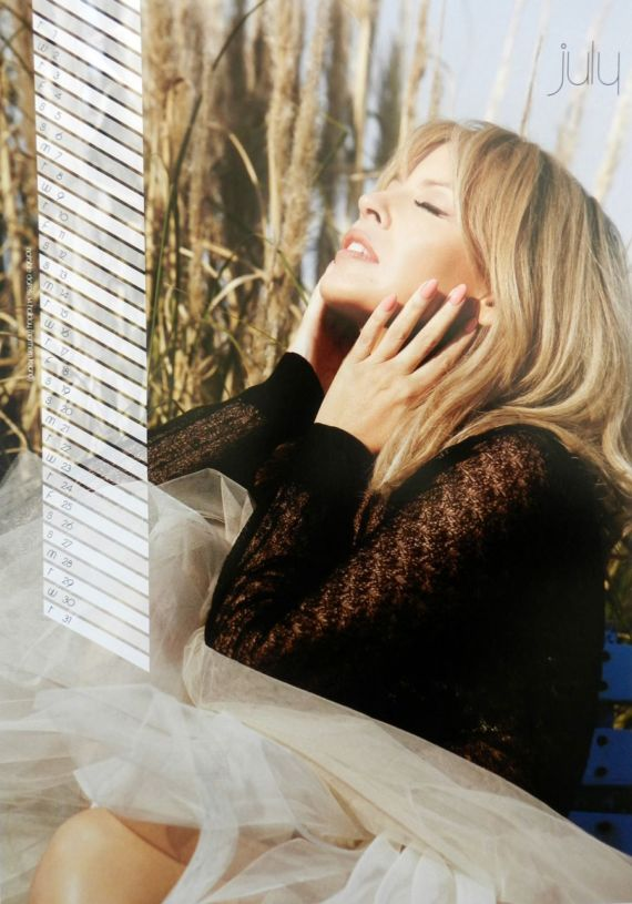 Click to Enlarge - Kylie Minogue Official 2014 Calendar