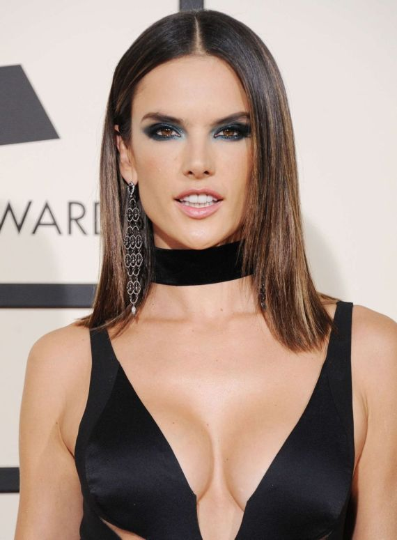 Alessandra Ambrosio At Annual Grammy Awards