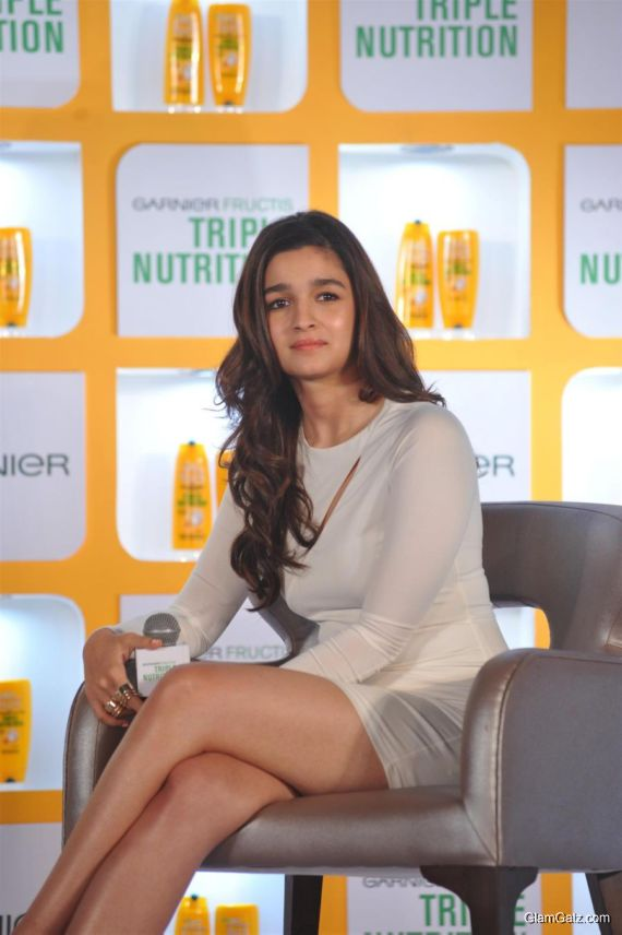 Alia Bhatt Launch Garnier Fructis Triple Nutrition