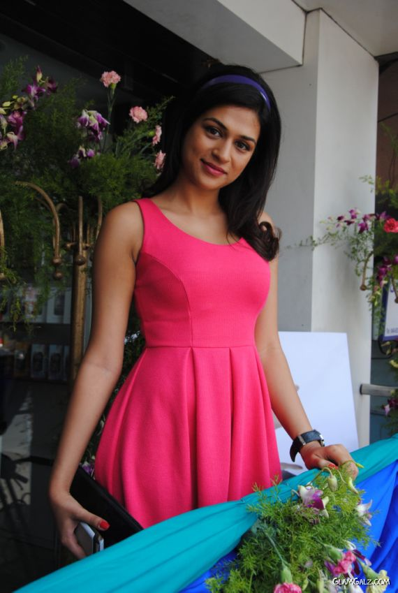 South Indian Actress Shraddha Das At The Launch Of Amori