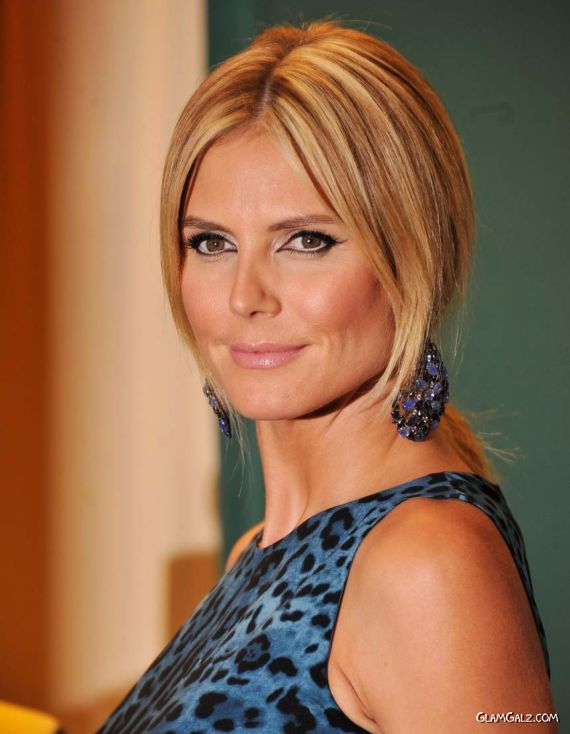 Heidi Klum Promoting Project Runway Book