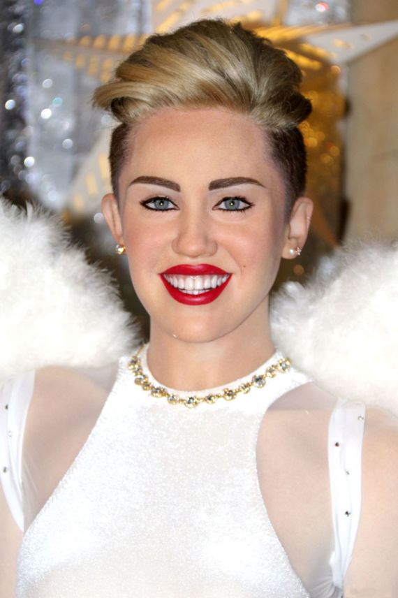 Miley Cyrus Wax Figure At Madame Tussauds